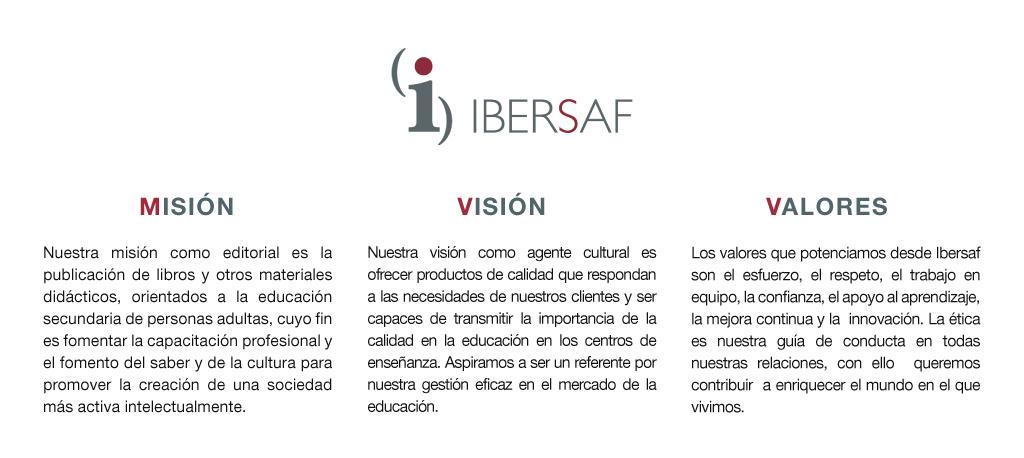 Misión, visión y valores de Ibersaf